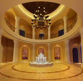 Ornate lobby fountain decorated 3D model