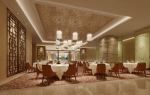 Chinese restaurant banquet hall 3d model