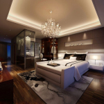 Luxurious modern and stylish master bedroom 3d model
