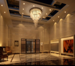 Gorgeous hotel entrance hall 3D model