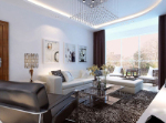 Fresh and brisk fashion model living room 3d