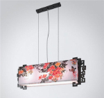 Square Chinese classical style chandeliers 3D model