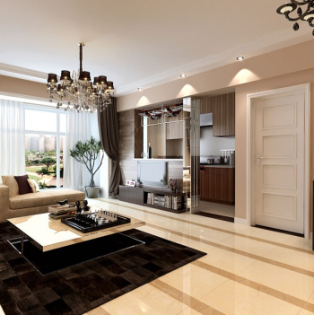 Modern living room 3d model design concise fashion 3d for Dining room 3d max interior scenes