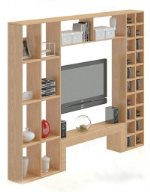 Backdrop wooden TV cabinet 3D model