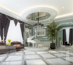 Luxury bright fashion piano hall 3d model