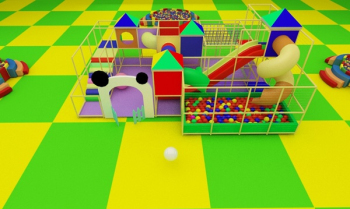 3D model building children's playground