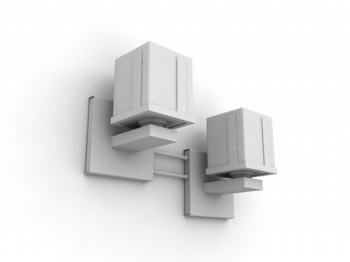 Lamps combination Wall 3d Model