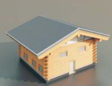 wooden houses / Architectural Model-3