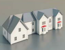 Townhouses / Architectural Model-8
