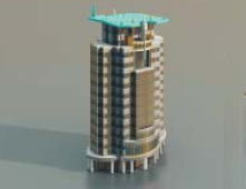 2Offices/fice buildings / high-rising buildings/Architectural Model-15
