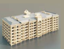 2Offices/fice buildings / Architectural Model-16