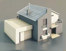 a Villa with a garage / Architectural Model-29