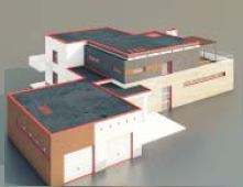 Square buildings  / Architectural Model-35