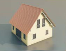 4   simple houses / Architectural Model-38