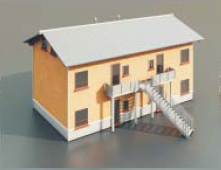 a house with two floor / Architectural Model-47