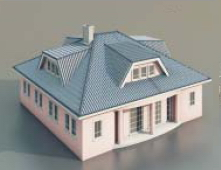 a house with one floor / Architectural Model-48