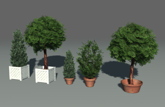 Green parks plants trees 3d model download free 3d for Mobel 3d download