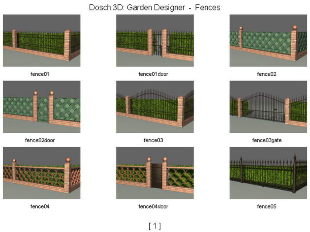 The fences walls gardens 3d model download free 3d Create 3d model online free