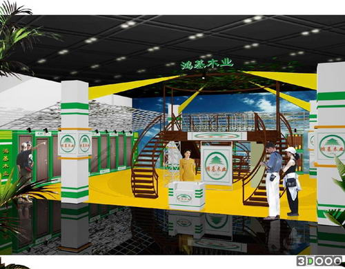 Exhibition Stand Design 3d Max : Commercial booth d model design exhibition d model download