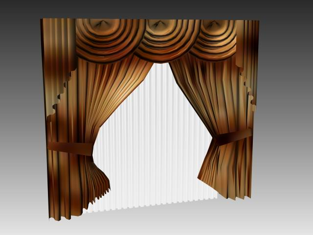Furniture - curtains 007 3D Model Download,Free 3D Models ...