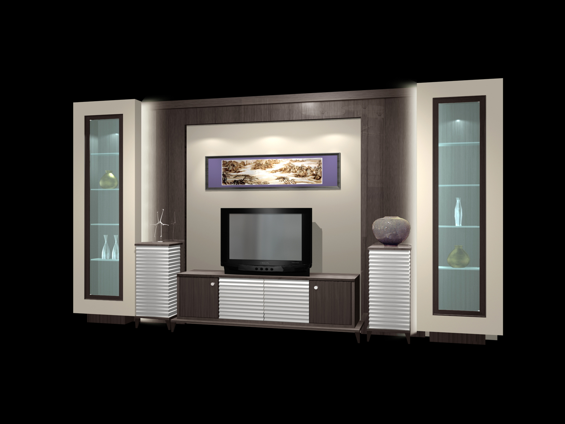 Furniture cabinets 002 audio visual counters 3d model for Mobel 3d download