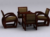 Chinese combination of two sets of tables and chairs
