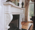 Neo-classical fireplace