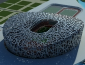 Beijing Olympic main stadium-3D model of the nest