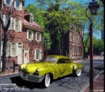 Yellow classic cars