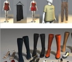 Clothing boutique 3D model--Contents
