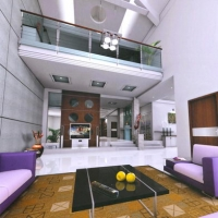 living-room design-purple