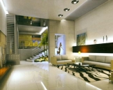 salon design blanc