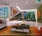 Wohnzimmer Design rot