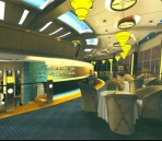 Restaurante de estilo moderno de diseño