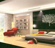 Simplism Bedroom--black and red