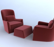 Lounge / Chaires Arm chairs__Red