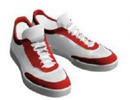 Red And White Sneakers Model