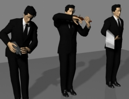 Models of Different Postures Waiters