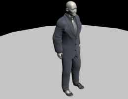 Human Character Model: MAN IN BLACK SUIT/BODYGUARD