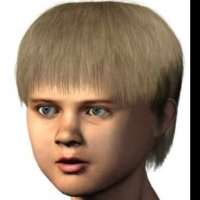 Human Body 3D Model: Blonde Hair Boy