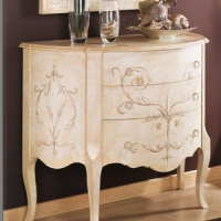 Furniture Model: Creamy Foyer Drawer Cabinet