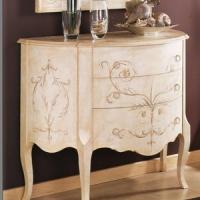 Furniture Model: Creamy Foyer Drawer Cabinet
