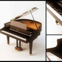 Instrument Model: The Grand Piano 3Ds Max Model