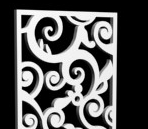 3D Model of European-style pattern hollow partition