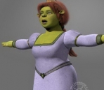 Shrek in the model fiona