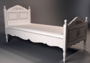European-style single bed model