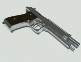 3d model of Beretta pistol