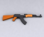 Soviet-made AK-47 assault rifle 3D Model