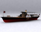 A small transport ship model