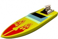 Yellow boat model